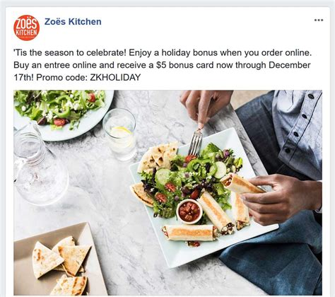 Kitchen On Coupon by Zoes Kitchen Coupons 5 Bonus With Entree