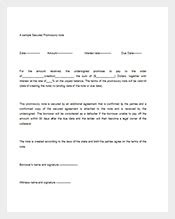 secured promissory note template promissory notes 112 free word excel pdf format free premium templates