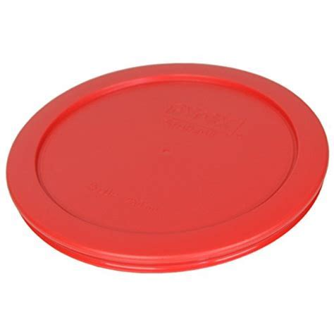 "Pyrex 7201 PC Round Red 6.5"" 4 Cup Lid for Glass Bowl 4"