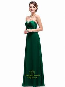 Emerald green and gold bridesmaid dresses and oscar for Emerald green wedding dress