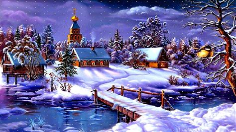 artistic winter painting hd wallpaper wallpaper studio