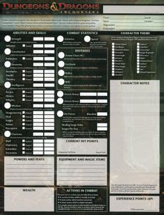 dungeons and dragons 3 5 character sheet of dnd other d