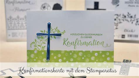 konfirmationskarte basteln mit stampin  jetzt bestellen