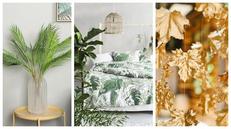 Estas hojas de palma de imitación pueden crear un auténtico ambiente de isla tropical. +35 ideas de decoración con hojas ¡Propuestas para ...