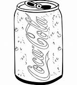 Coloring Cola Coke Coca Soda Bottle Sketch Template Drink Drawing Soft Templates sketch template