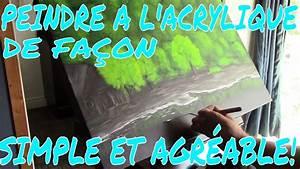 peindre a l39acrylique un paysage avec reflets sur l39eau With peindre l eau a l acrylique