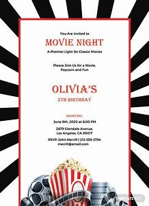 Ms Publisher Free Download Free Movie Night Invitation Template In Adobe Photoshop
