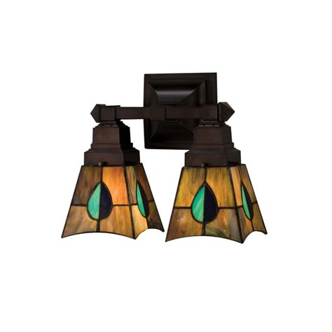Stained Glass Bathroom Light Fixtures by Meyda 31230 Glass Stained Glass