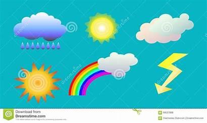 Weather Clip Rainbow Sun Rain Forecast Clouds