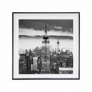 Cadre Deco Noir Et Blanc : photo encadr e 28x28 new york noir et blanc d coration murale eminza ~ Melissatoandfro.com Idées de Décoration