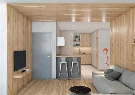 Two Lovely Apartments Featuring Wood Paneling by Two Lovely Apartments Featuring Wood Paneling Living
