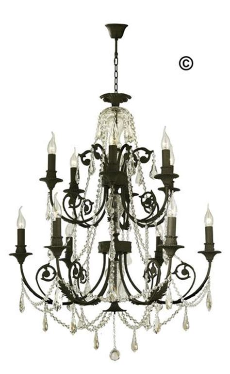 provincial iron chandelier 12 arm wrought iron