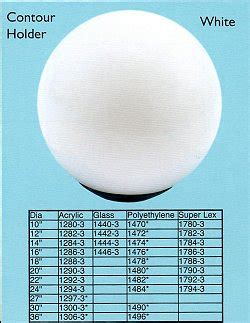 led acrylic white globe post light www loveitlighting