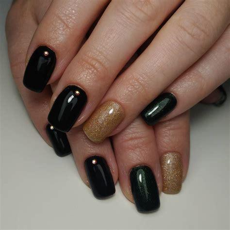 Модный черный дизайн ногтей 20202021 трендовый маникюр с черным лаком тенденции фотоидеи