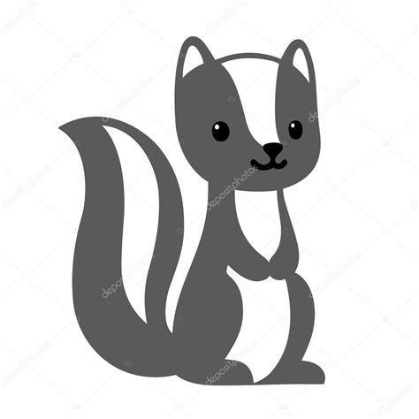 cute cartoon skunk stock vector  sudowoodo