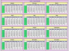 1865 Calendar