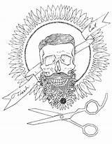 Coloring Barbershop Sheet Adult 1000 sketch template
