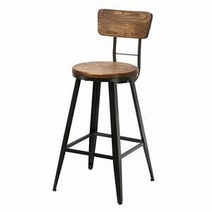 Tabouret De Bar Industriel Avec Dossier : voici o trouver un tabouret de bar industriel pas cher en ce moment ~ Teatrodelosmanantiales.com Idées de Décoration