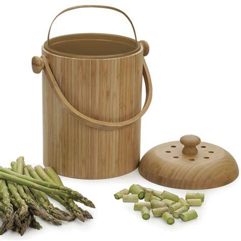 bamboo kitchen compost pail  compost pails