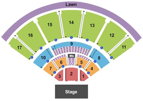 Tampa Amphitheatre Seating Chart