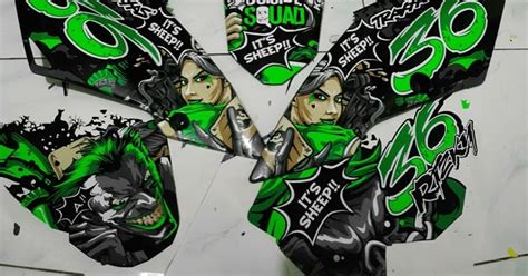 Gambar Hd Desain Sticker 3d Motor Cbr by Klx Bf 150 Joker Green Cutting Sticker Blacksheep