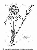 Sailor Saturn Coloring Pages Moon Uniform Pluto Hellokids sketch template