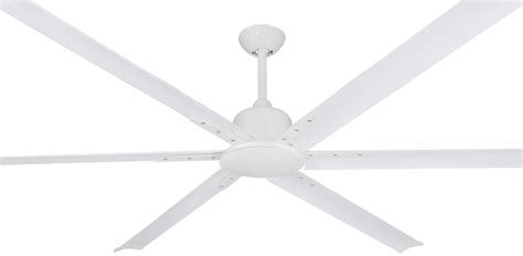 84 Inch Titan Ii Pure White Large Ceiling Fan By Troposair