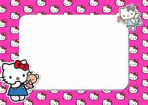 Hello Kitty Pink Head PNG Frame - Printable PNG Frames ...