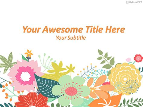 flowers powerpoint templates themes