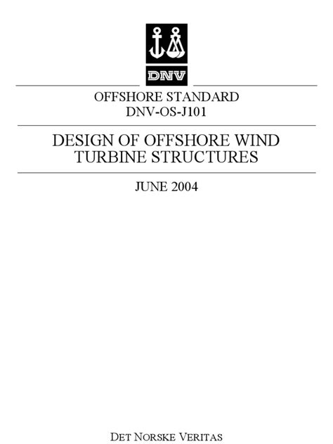 DNV OS-J101 Offshore Wind Turbine Standards | Offshore