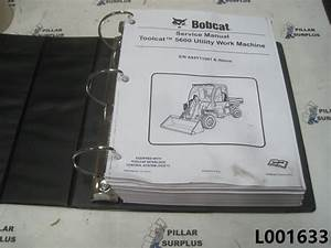 Bobcat Toolcat 5600 Utility Vehicle Service Manual S  N