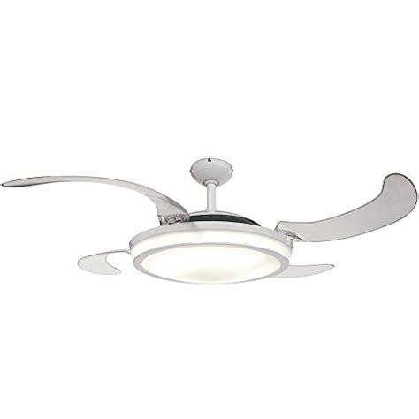retractable blade ceiling fan with light hunter 59086 fanaway retractable blade 48 quot white ceiling