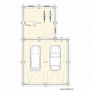 Garage 2 Voitures : garage voiture calque 2 plan 2 pi ces 70 m2 dessin par ~ Melissatoandfro.com Idées de Décoration