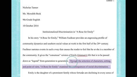 write  thesis statement   literary analysis essay youtube