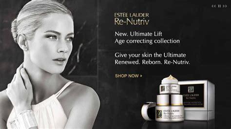 Estee Lauder Re-Nutriv Ad (Current ads for anti-aging skin