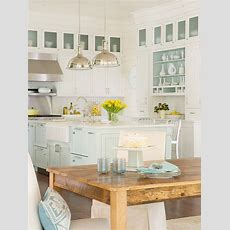 Turquoise Blue Kitchen  Cottage  Kitchen Bhg