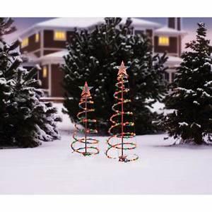 Portable Christmas Lights Walmart Holiday Time 3 39 And 4 39 Lighted Spiral Christmas Tree