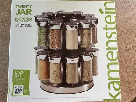 Spice Rack Spinning by Kamenstein Two Tier Rotating Spice Rack W Spices Ebay