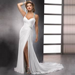 aliexpresscom buy sexy high slit chiffon wedding With wedding dresses with slits