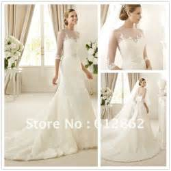 wedding dress 3 4 sleeve gorgeous mermaid lace 3 4 sleeve wedding dress in wedding dresses from weddings