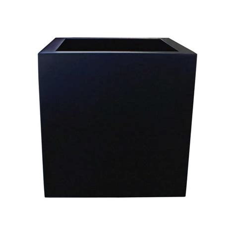 Black Square Planter Box by Montroy Small Square Planter Boxes Fiberglass Planters