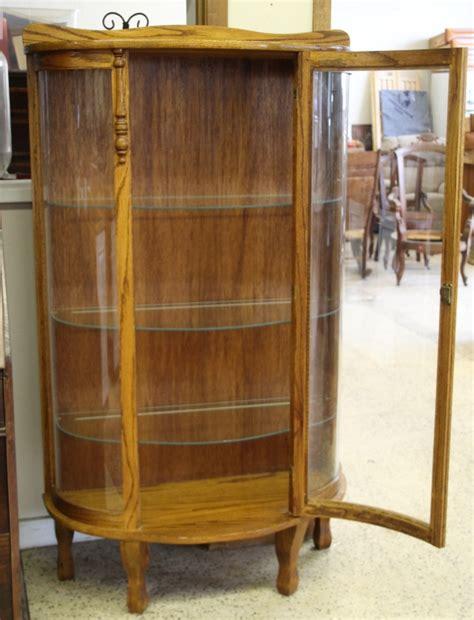 bow front curio cabinet antique tiger oak bow front curio cabinet