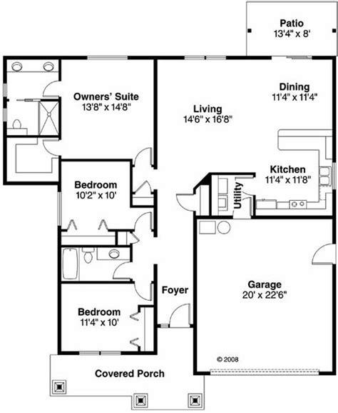 bedroom  bath bungalow house plan alp