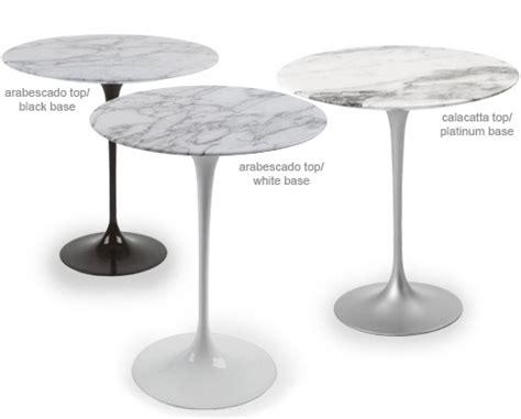saarinen side table carrara marble hivemoderncom