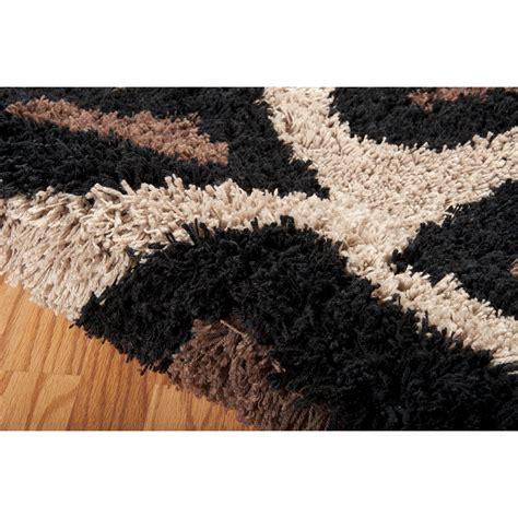 black and brown rug splendor brown black area rug wayfair