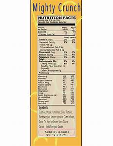 Cereal Box Nutrition Facts | avaphilbeck1