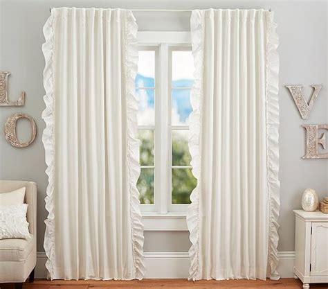 pottery barn blackout curtains pottery barn white ruffle blackout curtains curtain