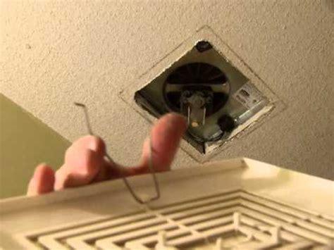 remove install  bathroom fan grille   min youtube