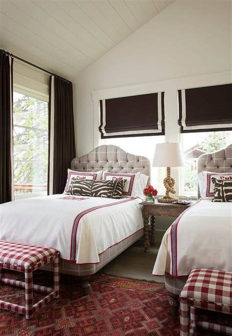 brown and pink bedroom pink and brown girls bedroom with gray tufted beds cottage girl s room