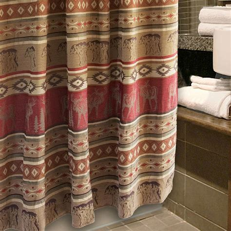 adirondack shower curtain cabin place